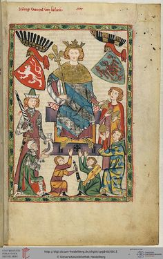 Shown here is King Wenceslaus II of Bohemia (1271-1305), who was crowned in 1297 in Prague as king. During his reign, Prague was the farm into a center of German poetry