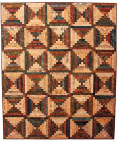 Magnolia Bay Quilts What a stunning display of creativity and patience. Wonderful version of Courthouse Steps!
