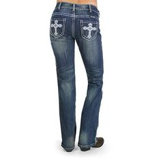 Cowgirl Tuff Women's Victory White Boot Cut Jeans