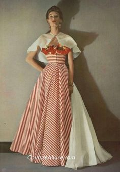 Couture Allure Vintage Fashion: 1953 Couture; Gres