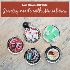 morena's corner: How to Make Jewelry with Doll House Miniatures