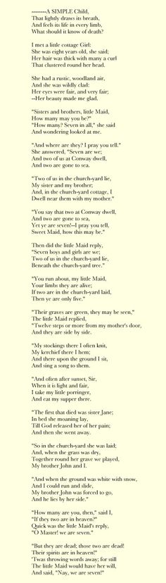 we are seven by william wordsworth