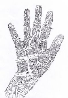 Create your personal map? OH I LOVE THIS. hand2jpg 7091024, city map art, personal maps, person map, hand art, illustr inspir
