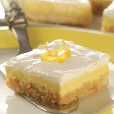 Want to show your love this Valentines Day? Show your love with these Lemon Cheesecake Bars. Recipe courtesy of Meals.com