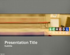 Free School PowerPoint template background for presentations