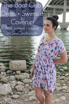 Easy free first knit dress/swimsuit coverup pattern!