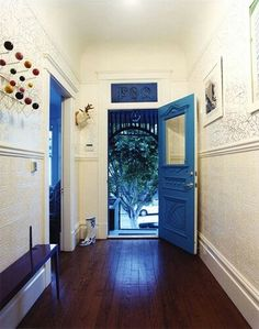 black house, blue doors, house layouts, front doors, hallway, entrance, blues, entryway, victorian houses