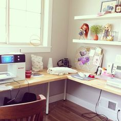 A nice, sunny room for sewing with BERNINA!