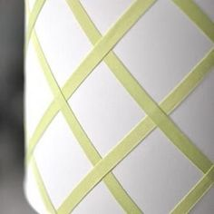 Lampshade to make for Great Room with Brown Ribbon.