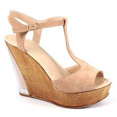 Scarpe moda donna: Sandali tacco alto 9539 Nocciola