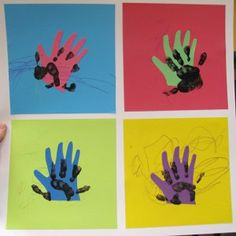 Andy Warhol project for kids.