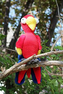 Parrot - Scarlet Macaw by TBoutiqueCritters