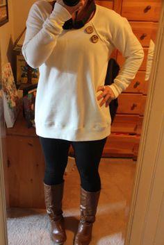 Gigantic Sweatshirt Refashion Tutorial!