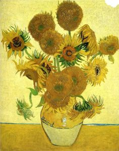 Still Life - Vase with Fifteen Sunflowers, 1888  Vincent van Gogh