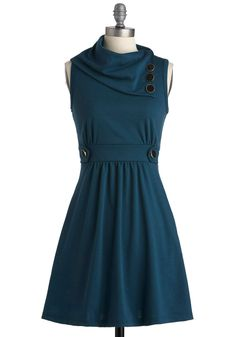 Coach Tour Dress in Sea Blue. Sometimes a dress is so magical, it makes you long for somewhere special and new to wear it. #blue #modcloth