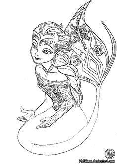 Princess anna coloring page printable princess anna - Anna And Elsa Coloring Pages Mermaid Sketch Coloring Page