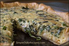 Spinach Quiche with Gruyere Cheese
