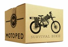 Motoped Survival #Bike - 400+ miles without stopping. Pretty cool.  It's a pedal bike and a motorbike that leaves a small carbon footprint.