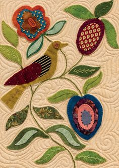 My Enchanted Garden quilt by Gretchen Gibbons - detail