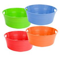 Bulk Colorful Round Plastic Storage Tubs at DollarTree.com