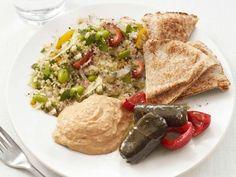 Middle Eastern Mezze Plate #MeatlessMonday