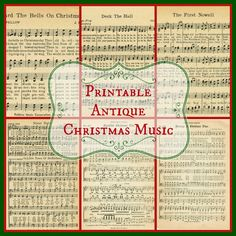 6 FREE Printable Christmas Music Pages ~~~via http://knickoftimeinteriors.blogspot.com/