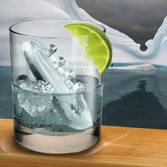 Ice cube trays that make little icebergs and the Titanic. Because, duh.