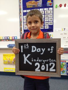 First Day of Kindergarten Picture #kinderchat
