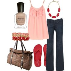 pink & red, created by #htotheb on #polyvore. #fashion #style Marc Jacobs #Diesel