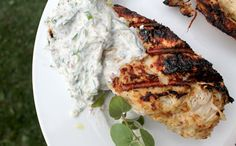 Grill Chicken with a Tzatziki-Like Sauce