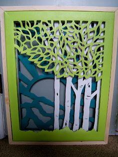 Triple Layer Cut Canvas