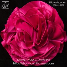 """10"""" Fuchsia Flower Pin, Avail in over 20 colors! Custom Made In 7 Days!"""
