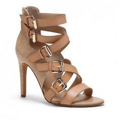 textured high heel sandal