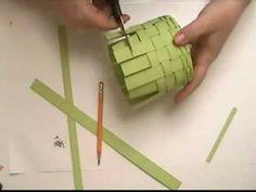 Paper basket Weaving part 2
