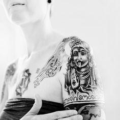 Tattoo of the female goddess Kali.