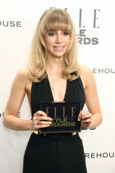 Model of the Year: Suki Waterhouse at the ELLE Style Awards 2014.