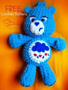 Free pattern :  Grumpy Bear by Corina Gray