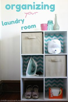 Laundry Room Organization. Add backing to mine and cover in scrapbook or wallpaper