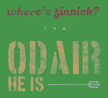 Where's Finnick?...Odair He Is!  Fun T-Shirts available for Finnick Fans!