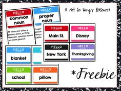 This is a great activity for practicing common and proper nouns.