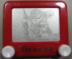 bioshock etchasketch, etch a sketch, geeki nerdi, etchasketch artwork, bioshock sketch, bioshocka etchasketch, game, sketches, big daddi