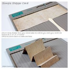Super simple stepper card with tutorial. More pics and info here - http://papervinenz.blogspot.com/2011/12/echo-park-blog-hop-giveaways.html