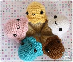 ice cream crochet pattern on Etsy, a global handmade and