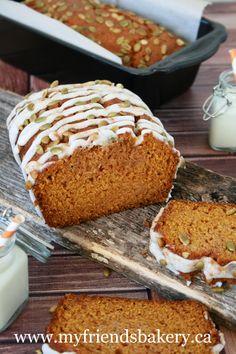 Pumpkin Loaf With Vanilla Icing