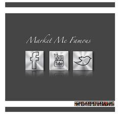 Market Me Famous social media icons created by the amazing Runway Magazine http://www.MarketMeFamous.com/