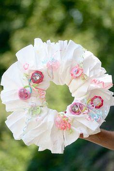 Diaper Wreath! Cool alternative to Diaper cake