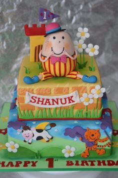 Humpty Dumpty Birthday cake - by designed by mani @ CakesDecor.com - cake decorating website