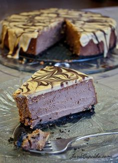 Peanut Butter Chocolate Cheesecake - OMG Chocolate Desserts