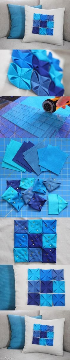 DIY Pillow With Felt Pads diy crafts craft ideas easy crafts diy ideas diy idea diy home diy pillows easy diy for the home crafty decor home ideas diy decorations diy quilting