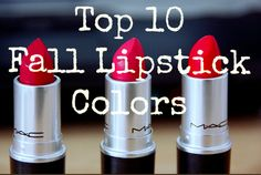 Top 10 lipsticks for Fall